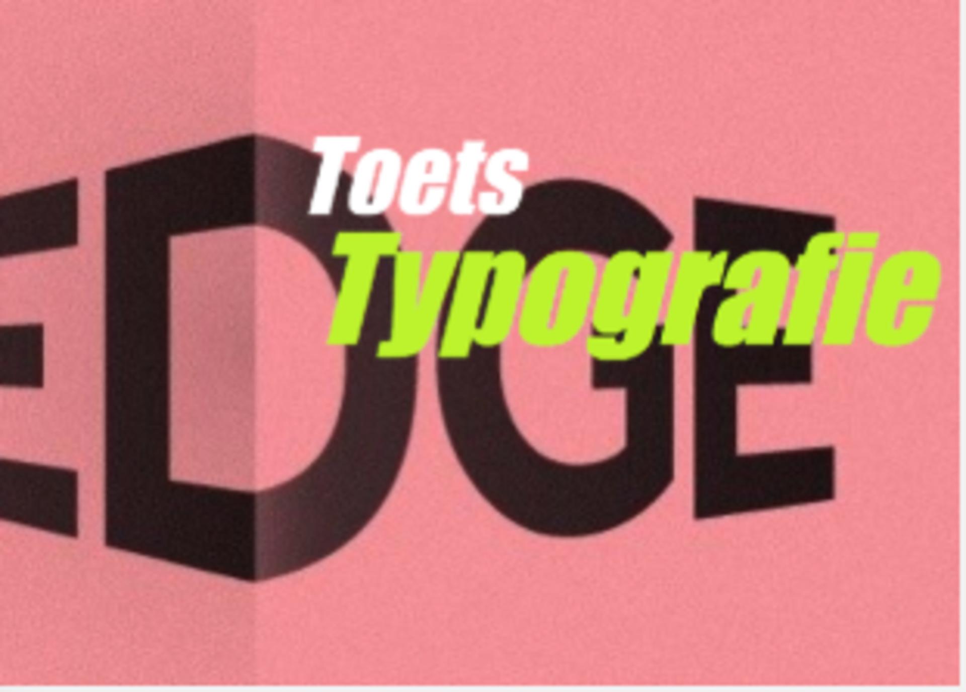 Toets typografie