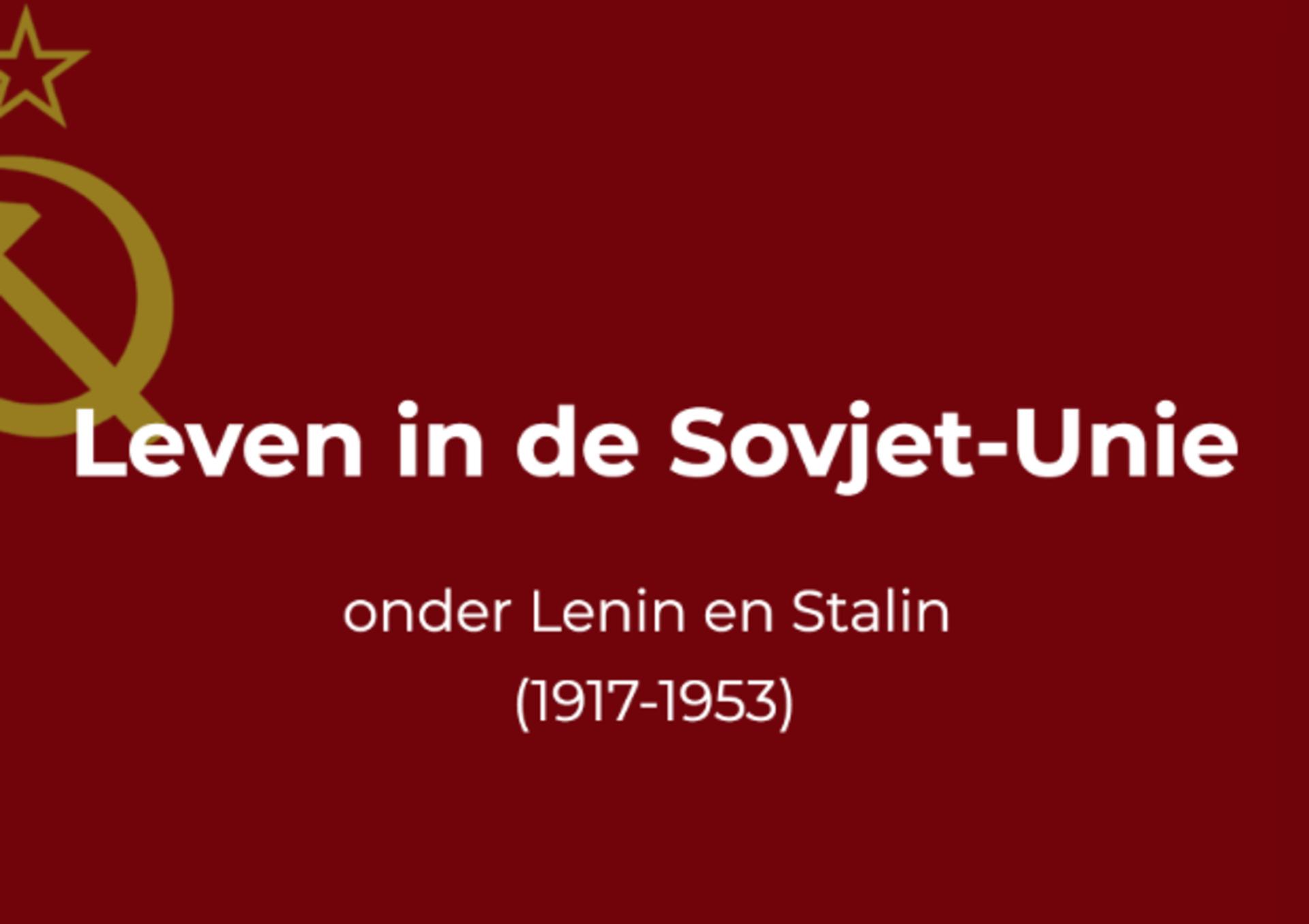 geschiedenisles over de sovjet unie