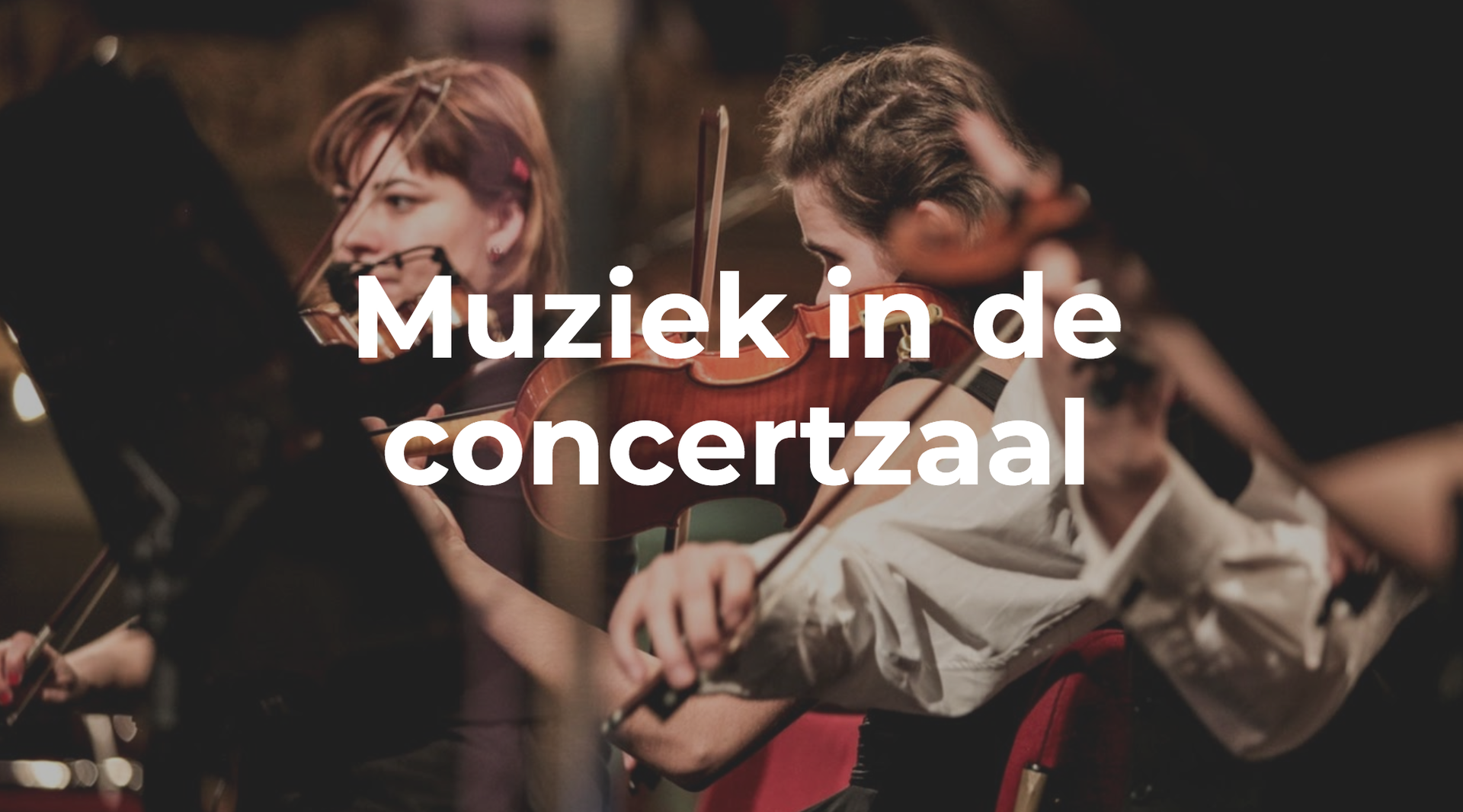 Les muziek in de concertzaal