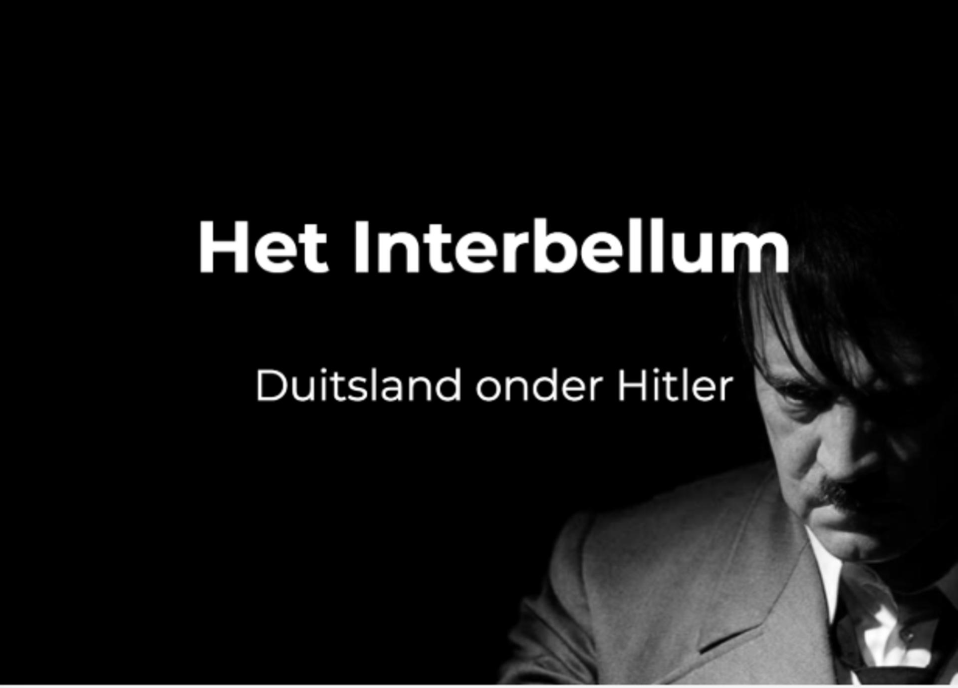 Geschiedenis les Duitsland onder Hitler
